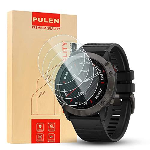 PULEN [4 unidades] compatible con Garmin Fenix 6X Pro Solar 1.4...