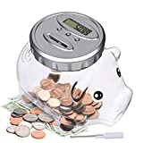 Lefree Digital Piggy Bank with Automatic LCD Display,Large Capacity Digital Counting Money Jar,Coin Bank as for Kids Friends Adults at Christmas,New Year's,Birthday
