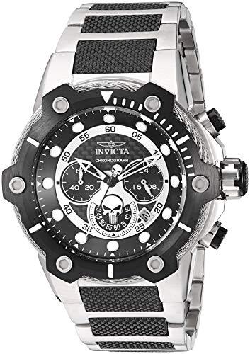 Invicta 25983 Marvel - Punisher Herren Uhr Edelstahl Quarz schwarzen Zifferblat