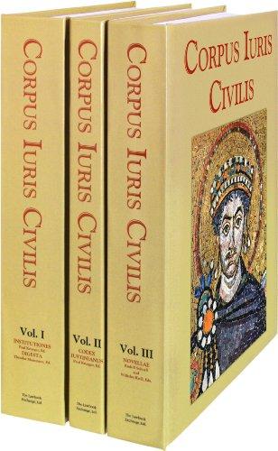 Corpus Iuris Civilis (3 Vols.)