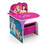 Delta Children Chair Desk with Storage Bin - Ideal for Arts & Crafts, Snack Time, Homeschooling, Homework & More, Disney Princess