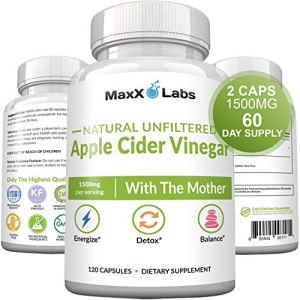 Raw Apple Cider Vinegar Capsules with Mother, 1500mg of Unfiltered, Pure, Natural, Energy Lift, Detox ACV, Fast Acting Pills for Women & Men, Bloating Relief. Gluten-Free, Non-GMO Supplements 1 - My Weight Loss Today