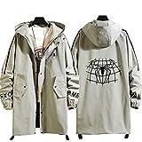 73HA73 Sweat Zippé à Capuche Long Manteaux pour Hommes Avenger Super Hero Spiderman Jacket Confortable Sweat Veste Coat (No Shirt),gray2,XL(175-180cm70kg)