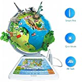 13in Smart World Globe - 4 in 1 SG268R Globe with AR App Experience, ODI Smart Reading Tech, Rich Quiz Mode, Magic taking photos function, Perfect Educational Gifts for Kids.