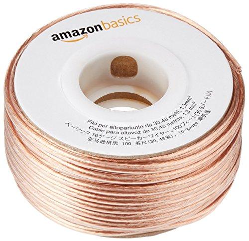 AmazonBasics - Cavo per altoparlanti 2x1,3 mm², lunghezza: 30,4 m