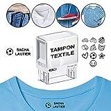 Tampon textile pour marquer les vêtements Personnalisé COLOP Printer 20 38x14mm