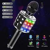 Tesoky Microphone sans Fil Bluetooth LED Lampe Coloré Dynamique,4 en 1...