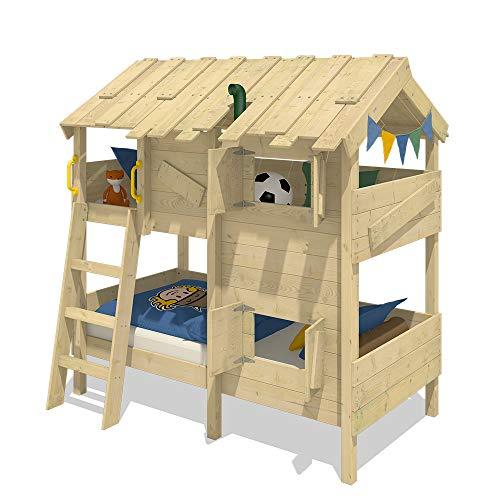 WICKEY Kinderbett Abenteuerbett CrAzY Cherry Spielbett 90x200 cm Einzelbett Bett