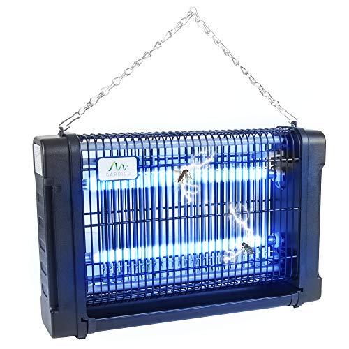 Gardigo - Zanzariera Elettrica; Lampada Insetticida Ammazza Zanzare Mosche con Luce UV Ultravioletta...