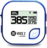 GolfBuddy Clip on Voice 2 Golf Navigation GPS for Hat / GPS and Laser Rangefinder, 14 Hours Battery Life, Water Resistant with Lifetime Free Courses and Software Updates, Blue