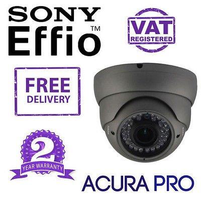AcuraPRO - Telecamera CCTV a cupola Sony Effio-E Enhanced 700TVL varifocale a infrarossi