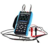 allsun 2 in 1 Handheld Digital Oscilloscope Automotive Lab Scope Protable Digital Multimeter Color Screen Scope DMM Meter 2 Channels,25MHz