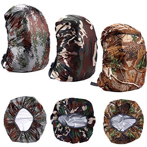 Housse de Pluie pour Sac à Dos Protection Camouflage Couverture Anti-Pluie...