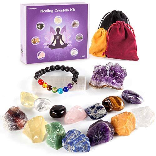SmartYeen Healing Crystals Set,17PCS Crystal Healing Stones...
