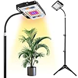 Grow Light with Stand, LBW Full Spectrum 150W LED Floor Plant Light for Indoor Plants, Grow Lamp...