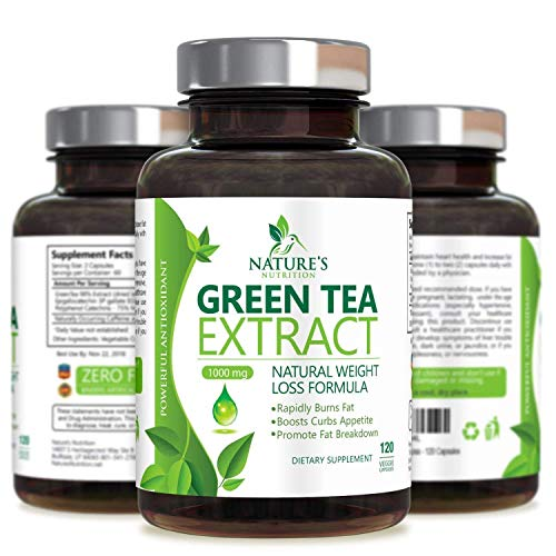 Green Tea Extract 98% Standardized EGCG Weight Loss 1000mg - Boost Metabolism for Healthy Heart - Antioxidants & Polyphenols - Gentle Caffeine, Fat Burner Pills, Made in USA - 120 Capsules 4