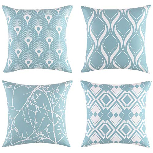 EXQ Home Throw Pillow Covers 20x20 Set of 4,Decorative Pillows...