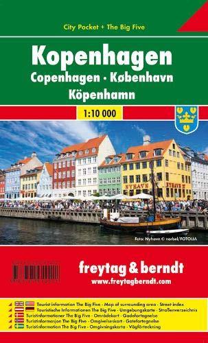 Copenhague City Pocket, plano callejero plastificado. Escala 1:10.000. Freytag & Berndt.: Stadskaart
