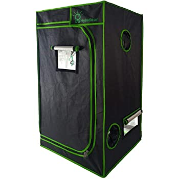 Amazon | LS Hyindoor 100*100*200cm 室内水耕栽培 植物育成 グロウボックス 安全遮光なグロウテント 高品質 温室 |  ビニールハウス・温室用品