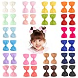 40 Pieces 3' Baby Girls Grosgrain Ribbon Bows Hair Bow Clips Barrettes For Girl Teens Kids Babies Toddlers by Prohouse