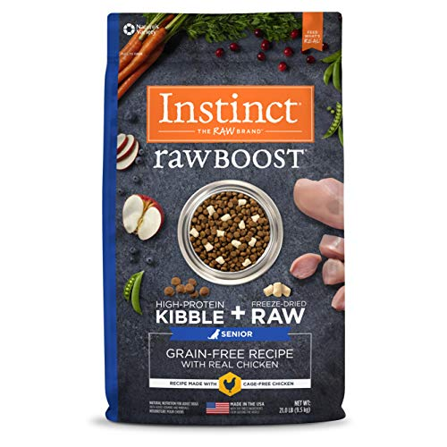Instinct Raw Boost Senior Grain Free Recipe with Real Chicken Natural Dry Dog Food by Nature's Variety, 21 lb. Bag