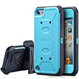ULAK iPod Touch 6th Generation case with Screen Protector, Belt Clip Holster Kickstand Shockproof Fullbody Protective Case Bumper Hard Cover for Apple iPod Touch 5/6th/ 7th Generation, Blue