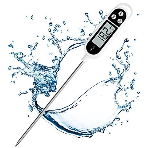 Digital Küchenthermometer, Lange Probe Fleischthermometer, Bratenthermometer Grillthermometer Thermometer mit Instant Read-Out für Küche, Grill, BBQ, Essen
