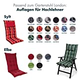 Homeoutfit24 Sun Garden Premium Line 4er Set Gartenstuhl Hochlehner London in Anthrazit - 7