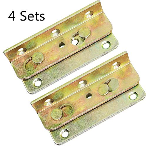 No-Mortise Bed Rail Brackets Set of 4