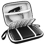 Lacdo Eva Shockproof Carrying Case for Western Digital My Passport Studio Ultra Slim Essential WD Elements Se Portable External Hard Drive 1TB 2TB 3TB 4TB 5TB USB 3.0 2.5 Inch HDD Travel Bag, Black
