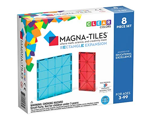 Magna Tiles Rectangles Expansion Set, The Original Magnetic Building Tiles for Creative Open-Ended Play, Educational Toys for Children Ages 3 Years + (8 Pieces) (15816)
