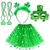 St. Patricks Day Accessories Party Favors Irish Costume Decorations Shamrock Headband Bead Necklaces Glasses and Dress