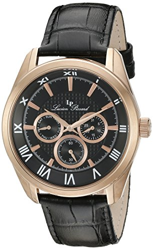 Lucien Piccard Men's LP-10153-RG-01 Odessy Analog Display Quartz Black Watch