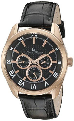 Lucien Piccard Men's LP-10153-RG-01 Odessy Analog Display Quartz Black Watch