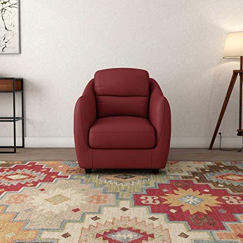 Durian Blaze Single Seater Sofa for Living Room (Burgundy)
