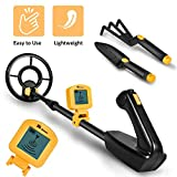 RM RICOMAX Metal Detector for Kids - 7.4 Inch Waterproof Kid Metal Detectors Gold Detector Lightweight Search Coil (35'-45') Adjustable Metal Detector for Junior & Youth with High Accuracy - Yellow