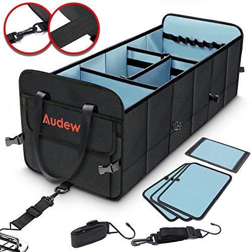Audew Kofferraumtasche Auto Kofferraum Organizer Aufbewahrungstasche Faltbar, Praktisch, Wasserdicht, Auto& Haus, Autotasche Mit Gurte und Haken