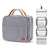 Hanging Travel Toiletry Bag,Large Capacity Cosmetic Travel Toiletry Organizer for Women with 4 Compartments & 1 Sturdy Hook,Perfect for Travel/ Daily Use/ Valentines' Day