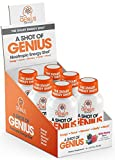 Shot of Genius - Nootropic Energy Shots   The Smart Energy Drink for Men & Women w/ Alpha GPC & Blueberry Extract   Extra Strength Brain Boost Supplement   Spark Focus & Support Mood - Sugar Free -6ct