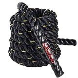 DAWOO Corde Ondulatoire,Corde Crossfit,Battle Rope,Cordes d'entrainement(38 mm * 9 m / 12 m / 15 m) (sans kit d'ancrage, 9M)