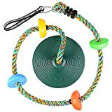 Funlove Climbing Rope with Platforms and Disc Tree Swings Seat Set - Carabiner and 4 Ft Tree Strap Included