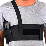 Believeee Deep Concealment Shoulder Holster Elastic Tactical Underarm Gun Holster for Men and Women (Black, M 33'-38')