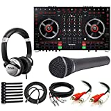 Numark NS6 II 4 Channel Premium DJ Controller + Dynamic Microphone + DJ Headphones + Cables + Cable Ties