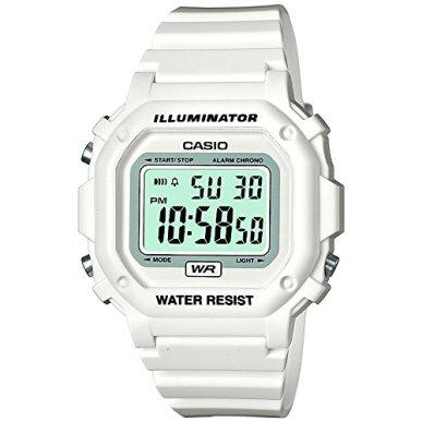 Casio F-108whc-7bef Mens White Digital Watch