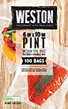 Weston Vacuum Sealer Food Bags, 6' x 10', Pint Size, 100 Count, Transparent
