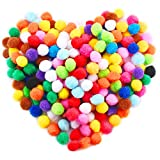 Size(approx): About 1 inch (2.5cm) in diameter Color: Assorted colors Pom Poms about 240 Pieces/ bag Material: Acrylic yarn  Children can create art projects and release their imagination with these pompoms Can be applied to create toy, garland, wrea...
