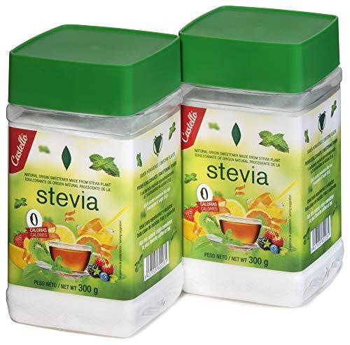 Castelló Since 1907 Dolcificante Stevia + Eritritolo 1:8 - Confezione 2 x 300 g - Total: 600 g