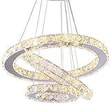 Modern Crystal Chandeliers LED Chandelier Pendant Lights Chandelier Rings Pendant Light (Warm White 30/40/50)