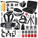 Followsun 52-en-1 Kit d'Accessoires pour Sport Caméra d'Action GoPro Hero...