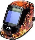 Pyramex Safety WHAM3030FL Leadhead Auto Darkening Welding Helmet, Flame